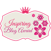 "a nomination for most ""Inspiring Blog Award"""