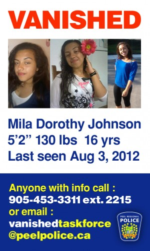 Mila Johnson missing flyer photo