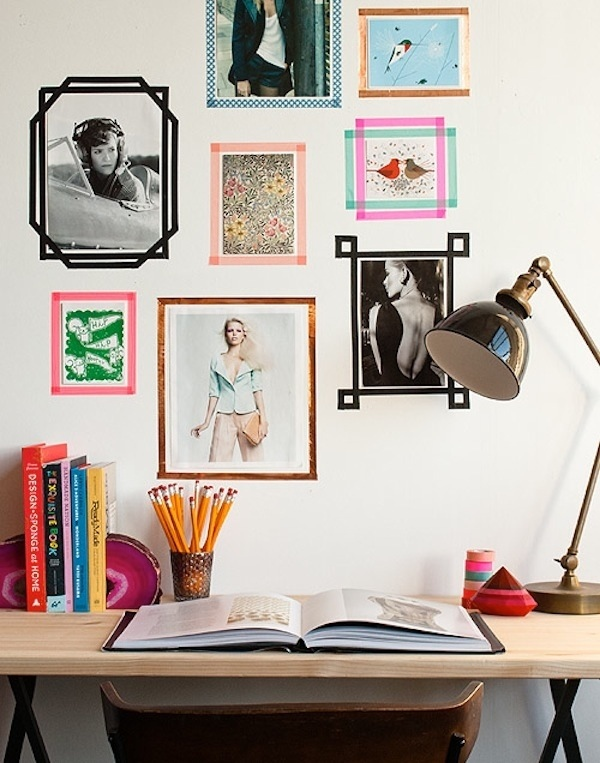 DIY Washi Tape photo frames